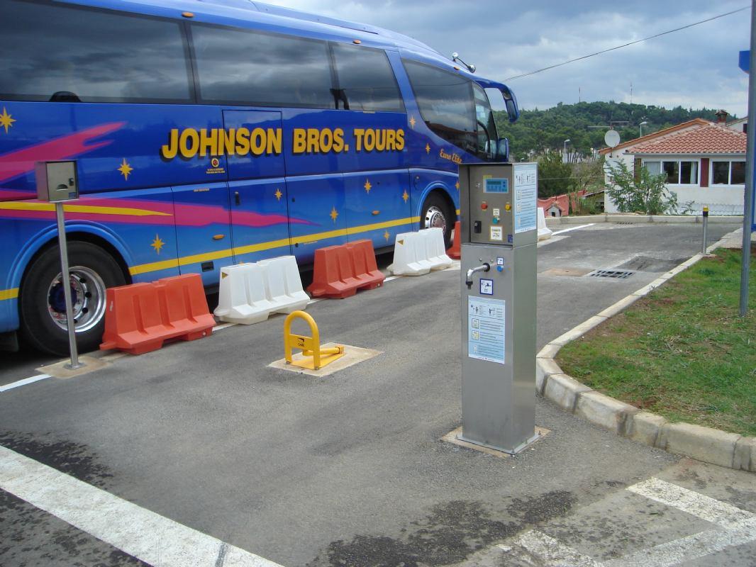 Station fécale pour les bus