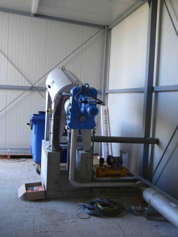 Dehidracija mulja - uređaj za pročišćavanje otpadnih voda u  Čitluku, BIH